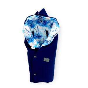 Otulacz do fotelika – softshell granat / bawełna ŻAGLÓWKI/ Mary Berry