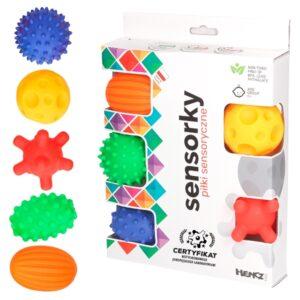 Piłki Sensoryczne 5 szt./ Hencz Toys